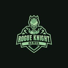 Rogoue knight logo mascot for sport esport by on DeviantArt Game Logo Design, Symbol Design, 2d Design, Graphic Design, Rogue Knight, Logo Tutorial, Warrior Logo, Knight Logo, Knight Games