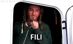 Dean O'Gorman in his trailer, mid-Fili make-up (gif) I can't get over how much I love this