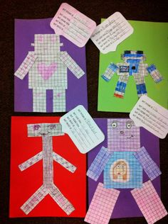 Area and perimeter robot craft! A fun way to assess understanding after teaching area and perimeter. Easy to differentiate!
