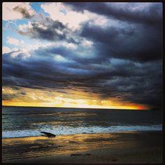 Sunset at Butterfly Beach.