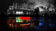 Manchester United FC Old Trafford Stadium Night Wallpaper HD