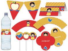 Festa Branca de Neve - Amarela e vermelha  Tuty - Arte  www.tuty.com.br