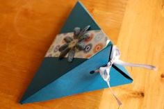 DIY pyramid gift box - great for little things so they don't get lost in the stocking