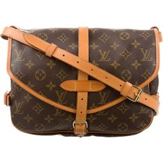Pre-owned Louis Vuitton Monogram Saumur 25 (€550) ❤ liked on Polyvore featuring bags, handbags, shoulder bags, brown, hand bags, louis vuitton handbags, purse shoulder bag, louis vuitton and louis vuitton shoulder bag