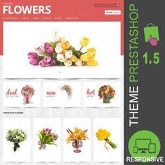 Fleuriste, vente de fleurs, composition florale, mariage, anniversaire, baptême, fête, heureux événement, funéraire,... Thème PrestaShop 1.5