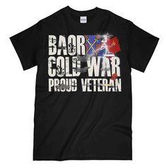 BAOR COLD WAR VETERAN Printed T-Shirt New T Shirt Design, Shirt Designs, Army Print, Cool Graphic Tees, Cold War, Clothing Items, Cool Designs, Printed, Mens Tops
