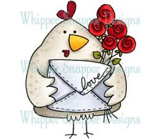 Whipper Snapper Designs is an expansive online store selling a large variety of unique rubber stamp designs. Chicken Crafts, Chicken Art, Animal Drawings, Cute Drawings, Images Kawaii, Rooster Art, Envelope Art, Pet Chickens, Happy Paintings