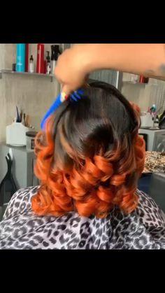Hair Ponytail Styles, Curly Hair Styles, Black Girl Hair Cuts, Pressed Natural Hair, Voluminous Curls, Pretty Hair Color, Multicolored Hair, Natural Hair Styles For Black Women, Relaxed Hair