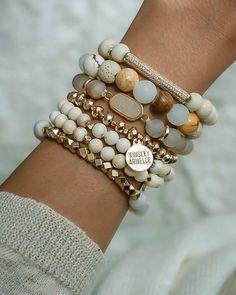 Shop this Instagram from @kinsleyarmelle Gemstone Bracelets, Handmade Bracelets, Gemstone Jewelry, Jewelry Bracelets, Bracelet Set, Jewelery, Stacking Bracelets, Emerald Gemstone, Healing Bracelets