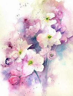 Image result for watercolor cherry blossom