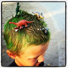 Crazy Hair Day. Did this omitting colored hair. Loved it!