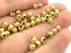 20 piezas 5 mm bronce cromado oro bola abalorios por AZsupplies