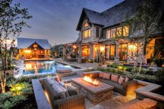 "Luxury Homes Interior Dream Houses Exterior Most Expensive Mansions Plans Modern 👉 Get Your FREE Guide ""The Best Ways To Make Money Online"" Backyard Buildings, Dream Mansion, Luxury Homes Dream Houses, Modern Backyard, Backyard Bbq, Infinity Pool Backyard, Cozy Backyard, Dream House Exterior, Dream Home Design"