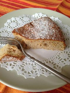 Almond Cake. Made with almond flour, eggs, honey, lemon zest, cinnamon, and olive oil.