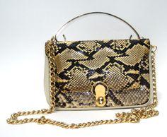 1960s mod genuine python handbag by SplendoreBoutique on Etsy, $85.00