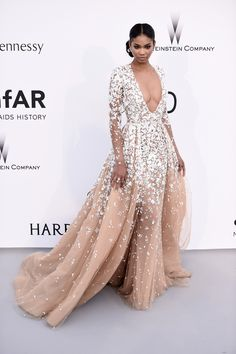 Chanel Iman attends amfAR's 22nd Cinema Against AIDS Gala, Presented By Bold Films And Harry Winston at Hotel du Cap-Eden-Roc on May 21, 2015 in Cap d'Antibes, France.  loveee
