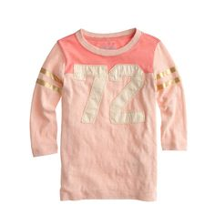 Girls' #72 football tee