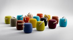Funky stools by Offect, called Carry On