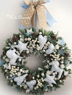 """Купить Веночек"""" Морозец"""" - елка, рождество, белый, Снег, подарок на новый год, новогодний подарок, снежный"""
