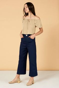 988d149c6e10c0 Flora Pant in Indigo · Whimsy   Row · Sustainable Clothing   Lifestyle Brand