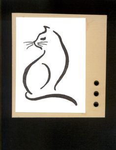 Rubber Romance Kitty stamp.  This was a sympathy card for a friend whose cat went to the Rainbow Bridge.