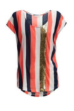 A fabulous stripe tee is a wardrobe essential - love the sequin stripe! 'The Arrival' tee by Sass and Bide