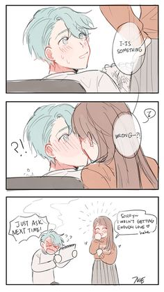 Read from the story Mystic Messenger Cómics en Español by DoesJuminIsGay_ (Eight) with reads. Mystic Messenger Fanart, Mystic Messenger Characters, Mystic Messenger Memes, 707 Mystic Messenger, Cute Couple Comics, Couples Comics, Cute Comics, Just In Case, Just For You