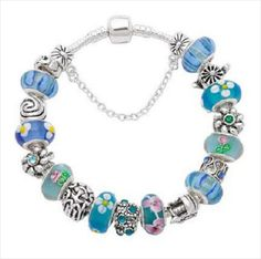 New Silver blue European Bead Charm Bracelet free shipping Listing in the Other,Charms & Charm Bracelets,Fine Jewellery,Jewellery & Watches Category on eBid Canada