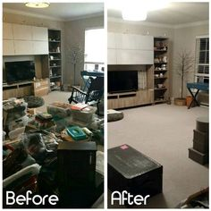 My newest client had just moved into a new house and was feeling overwhelmed with the amount of items they had yet to place. We worked together to purge and find items a home! The space is not finished, but much progress was made. #professionalorganizer #getorganized