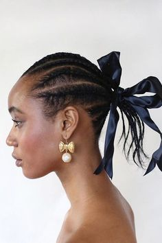 Bridal Braids / Cornrows / Updo by Lucas A. Wilson on Nadja Giramata using Bumble and Bumble (IG Luc. Cool Braid Hairstyles, Afro Hairstyles, Celebrity Hairstyles, Summer Hairstyles, Wedding Hairstyles, Protective Hairstyles, Haircuts, Cornrows Updo, Natural Hair Styles