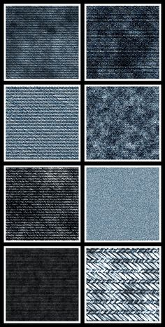 Jeans Seamless Tiling Patterns for Adobe Photoshop and Photoshop Elements