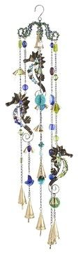 Sea Horse & Jewels Wind Chime beach-style-outdoor-decor