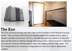 Rapid response, emergency housing...Amazing concept..eco friendly because it is reusable, easy to store  http://www.reactionhousingsystem.com/system_overview.php