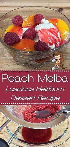 Peach Melba is a luscious dessert, created by a French chef, that's been wowing folks for well over 100 years. This easy version by Foodie Home Chef is bright & cheery, smooth & creamy and is sure to become one of your favorite desserts! Peach Melba is a fabulous dessert to serve during any holiday from Christmas to Easter to Mother's Day to Thanksgiving... your guests will rave about it! Peach Melba   Peach Melba Dessert   Dessert Recipes   Holiday Desserts   #foodiehomechef @foodiehomechef