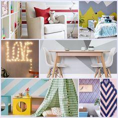 Decoração barata - você pode fazer Art Decor, Home Decor, Diy, Loft, Furniture, Dollar Store Decorating, Decorating Ideas, Wall, Craft