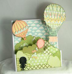 Xcut Build-A-Scene Dies - Vintage Balloon Card: I want to make a card this beautiful!!!