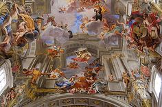 La Gloire du saint, 1691-1694, Andrea Pozzo, Rome, église Sant' Ignazio