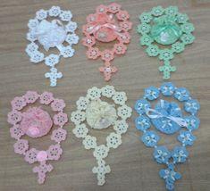 Mini terços de crochê, feitos em linha. O preço acima refere-se APENAS a UMA unidade.