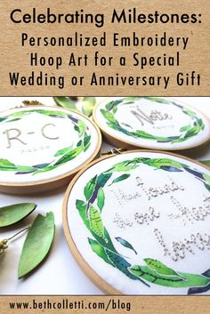 Celebrating Milestones: Personalized Embroidery Hoop Art for a Special Wedding…