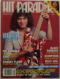 HIT PARADER magazine 1985 w/ LED ZEPPELIN 16 page feature w/ hologram cover NM-
