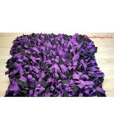 Schnüffelteppich lila/schwarz