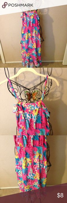 Pretty girls floral print summer dress XL look Pretty dress Cherokee Dresses Casual