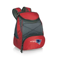 New England Patriots Red PTX Backpack Cooler