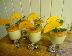 Edel's Mat & Vin : Panna cotta med sharonfruktpuré  ✿