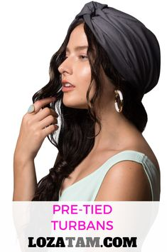 198bdc52933e Say goodbye to bad hair days with a pre-tied satin-lined head wrap