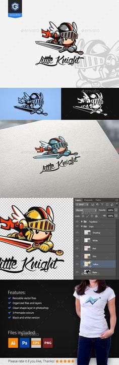 Little Knight logo Logo Design Template Vector #logotype Download it here: http://graphicriver.net/item/little-knight-logo/12437310?s_rank=995?ref=nexion