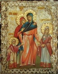 Saint Sophia and Her Three Daughters Faith, Hope, and Love (Feast Day - September By St. Dimitri of Rostov During the reign of the im. Love Feast, Printable Images, Three Daughters, Religious Icons, Divine Feminine, Christian Art, Saints, Passion, September 17