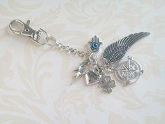 Key Chain Purse Chain Purse Decor Good Luck Charms by JypsyJewels