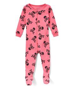 Pink Skull Footie Pajamas - Infant, Toddler & Girls