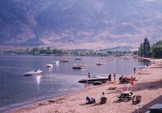 Osoyoos beach in the summer is packed with families enjoying the beautiful weather #Osoyoos